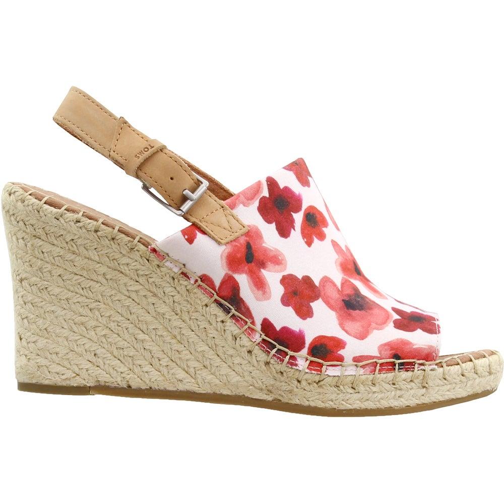 SHOEBACCA: TOMS Monica Floral Platform Sandals $24.87