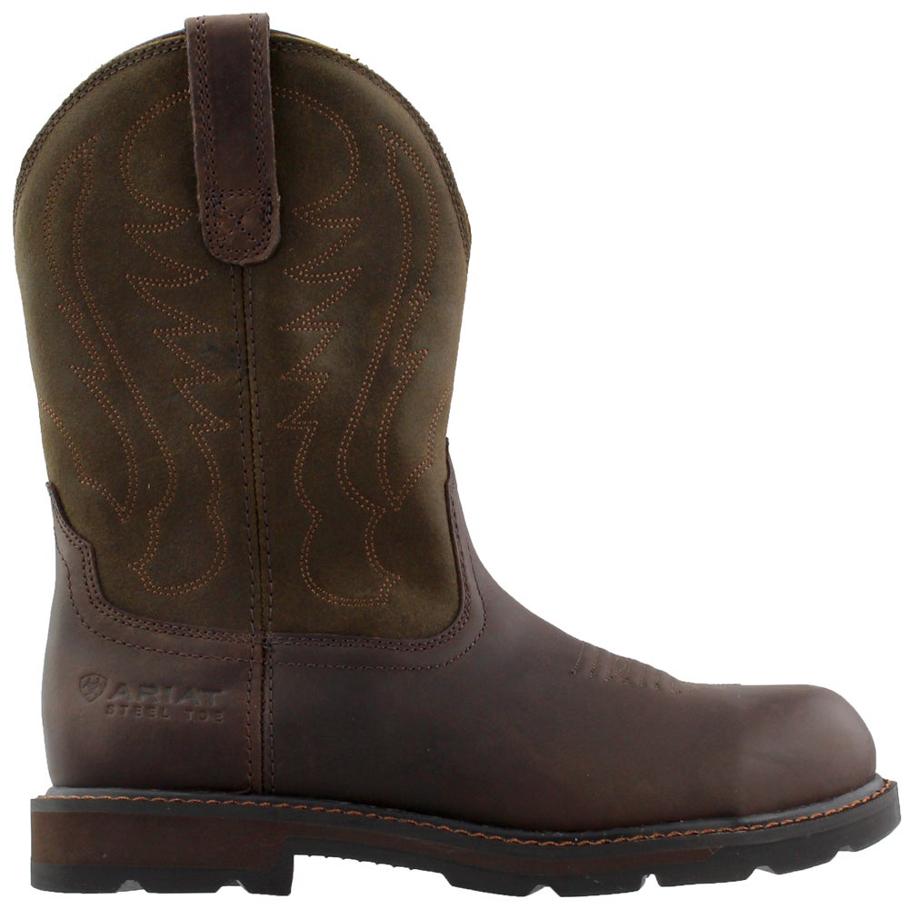 ebe4b574267 Ariat Groundbreaker Pull On Steel Toe Brown Work Boots and free ...