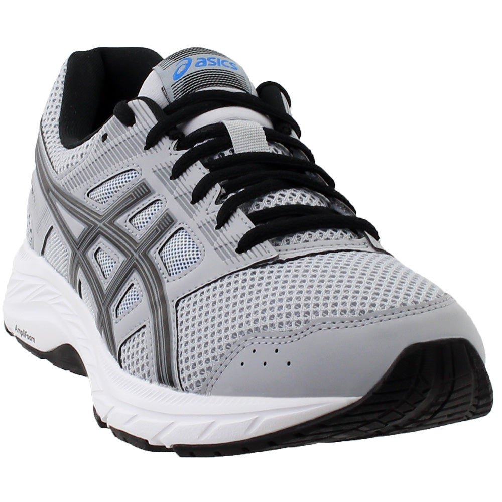 ASICS Gel-Contend 5 Running Shoes Grey Mens Lace Up Athletic