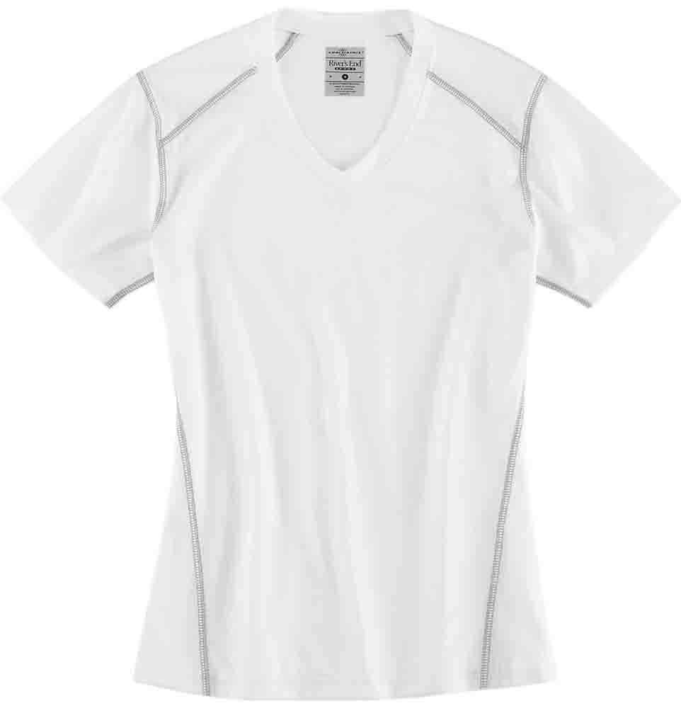 Rivers End V-Neck Tee White - Womens  - Size Xl