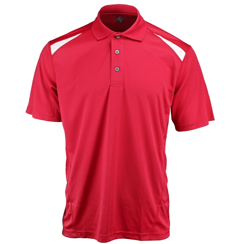 River's End Color Block Polo Red - Mens  - Size Xxxl