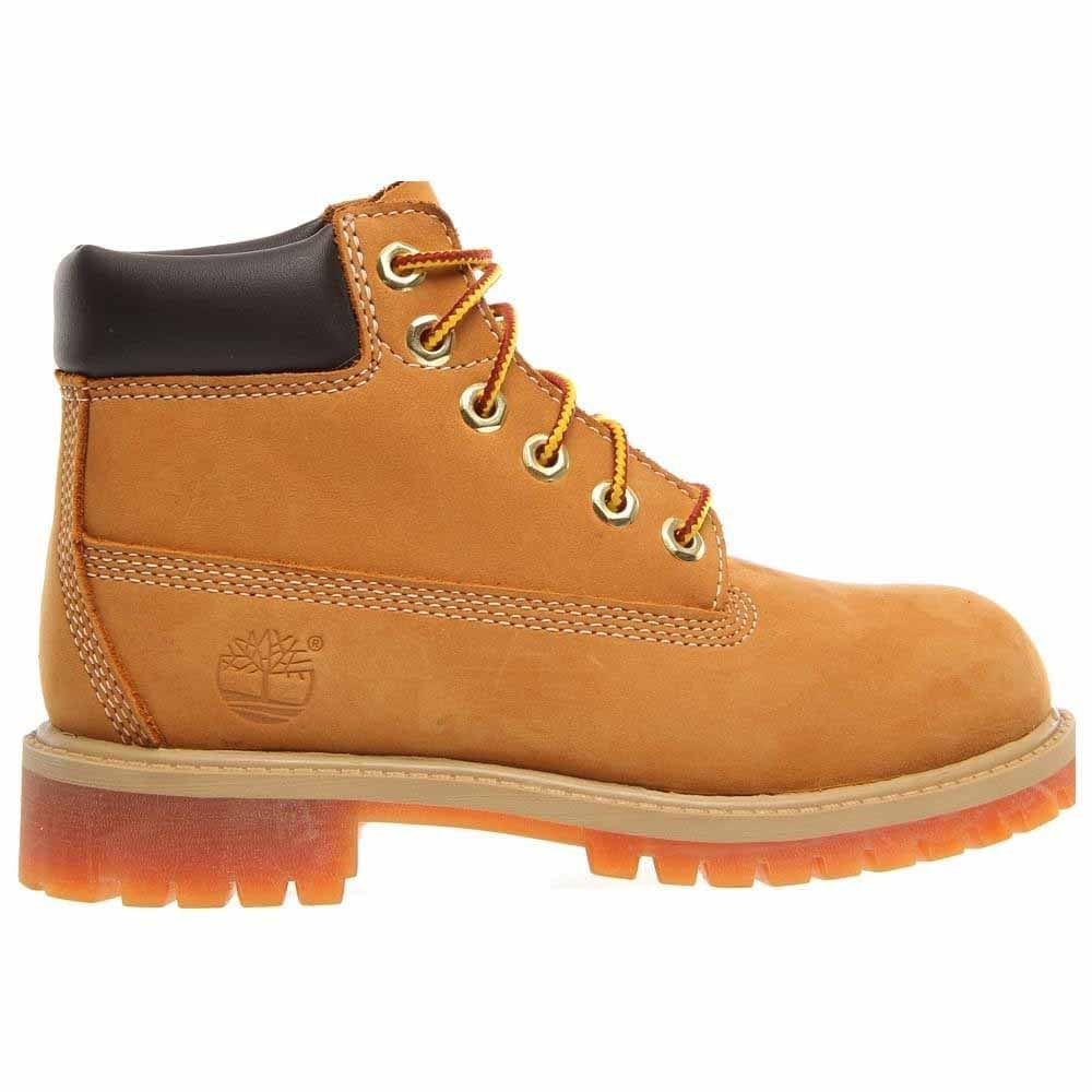 Medición fuerte batalla  Timberland 6 Inch Premium Waterproof Boots (Little Kid) Tan Boys Lace Up  Boots