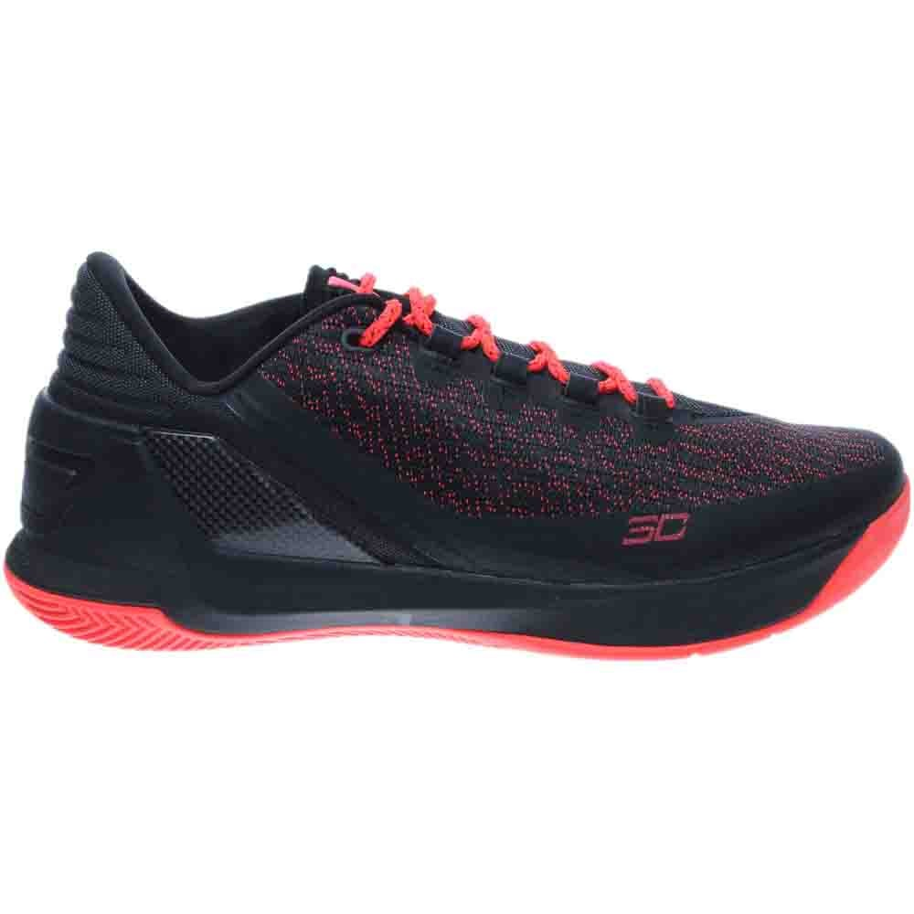 Under Armour Curry 3 Low Black;Red - Mens  - Size