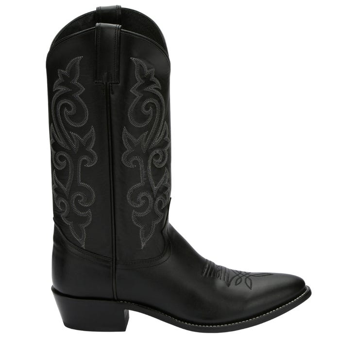 Western Black London Calf (Med. Round Toe)