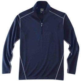 Long Sleeve Half Zip Mock Neck Pullover