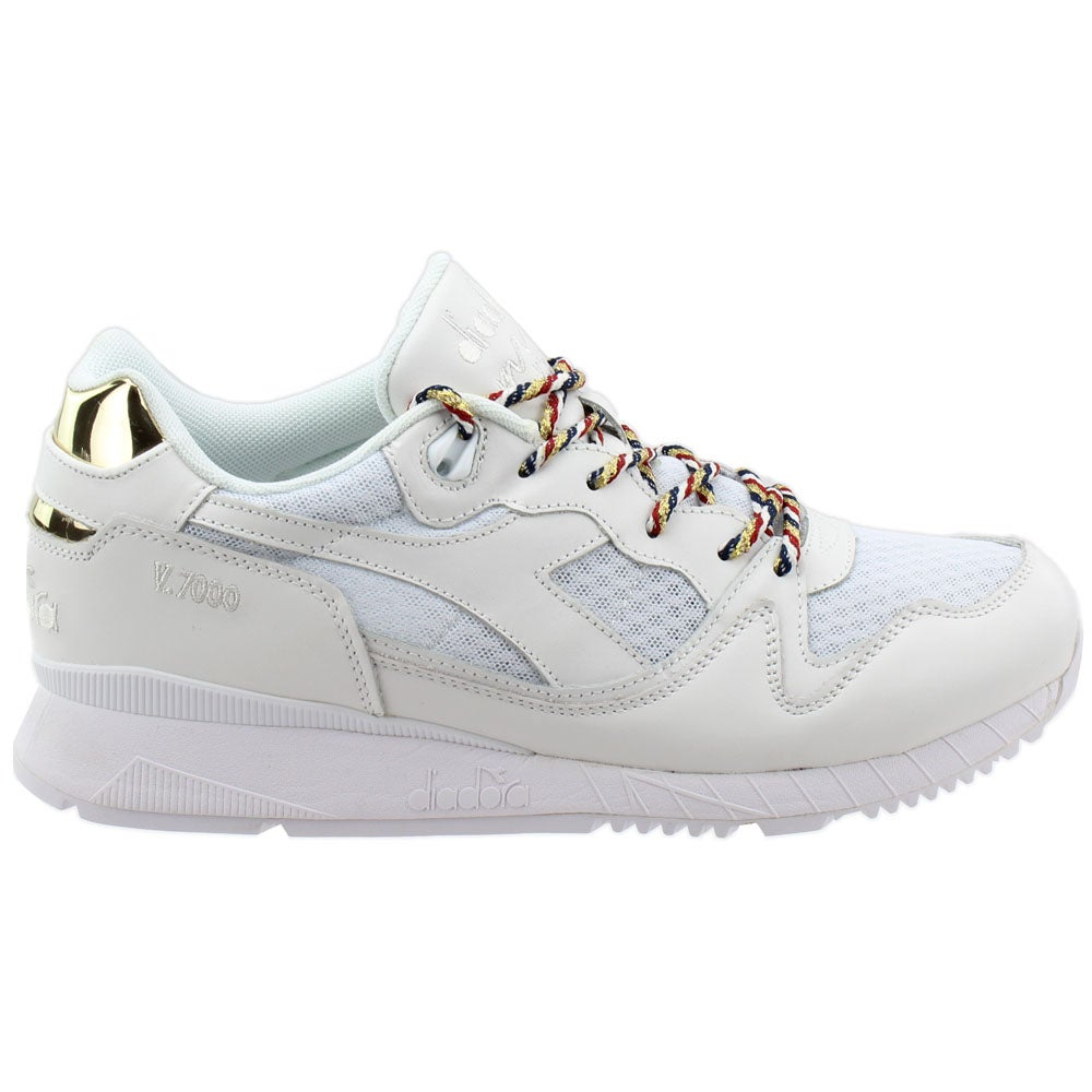 Diadora V7000 USA White Unisex Lace Up Sneakers