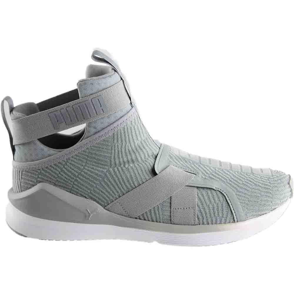 Puma FIERCE STRAP FLOCKING Grey - Womens  - Size 9.5