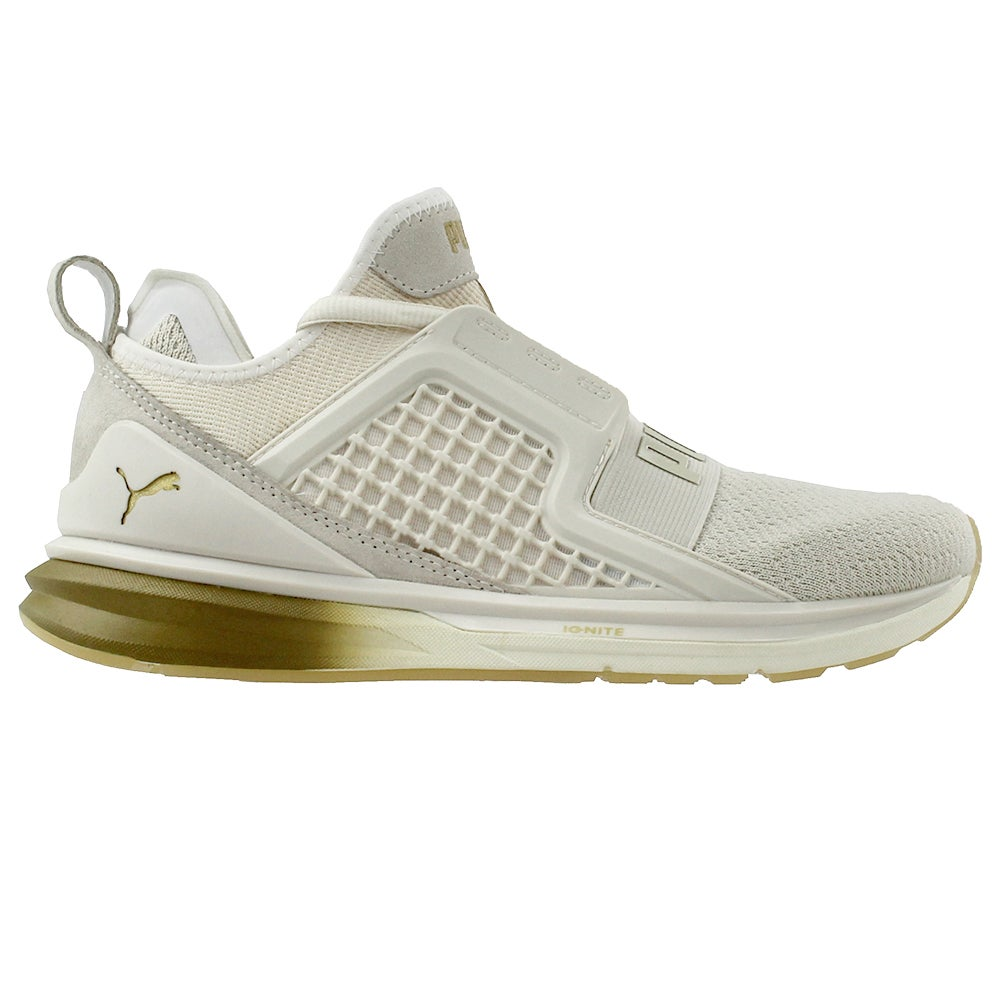92c9b4672f2 Details about Puma Ignite Limitless Metal Running Shoes - Beige - Womens