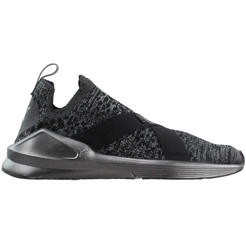87152fb9bf0f04 Details about Puma Fierce Evoknit Metallic Sneakers - Black - Womens
