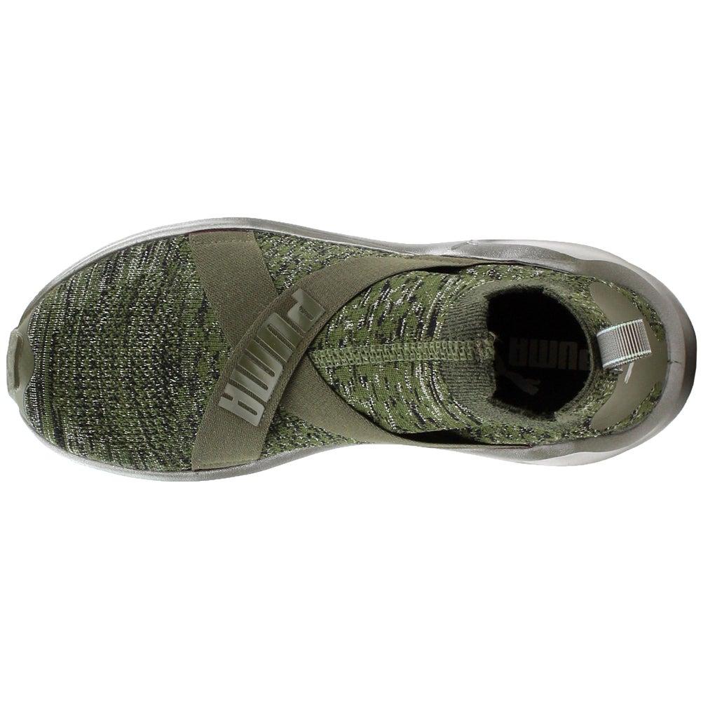 Puma Fierce Evoknit Evoknit Evoknit Metallic Sneakers- Grün- Damenschuhe d09aac