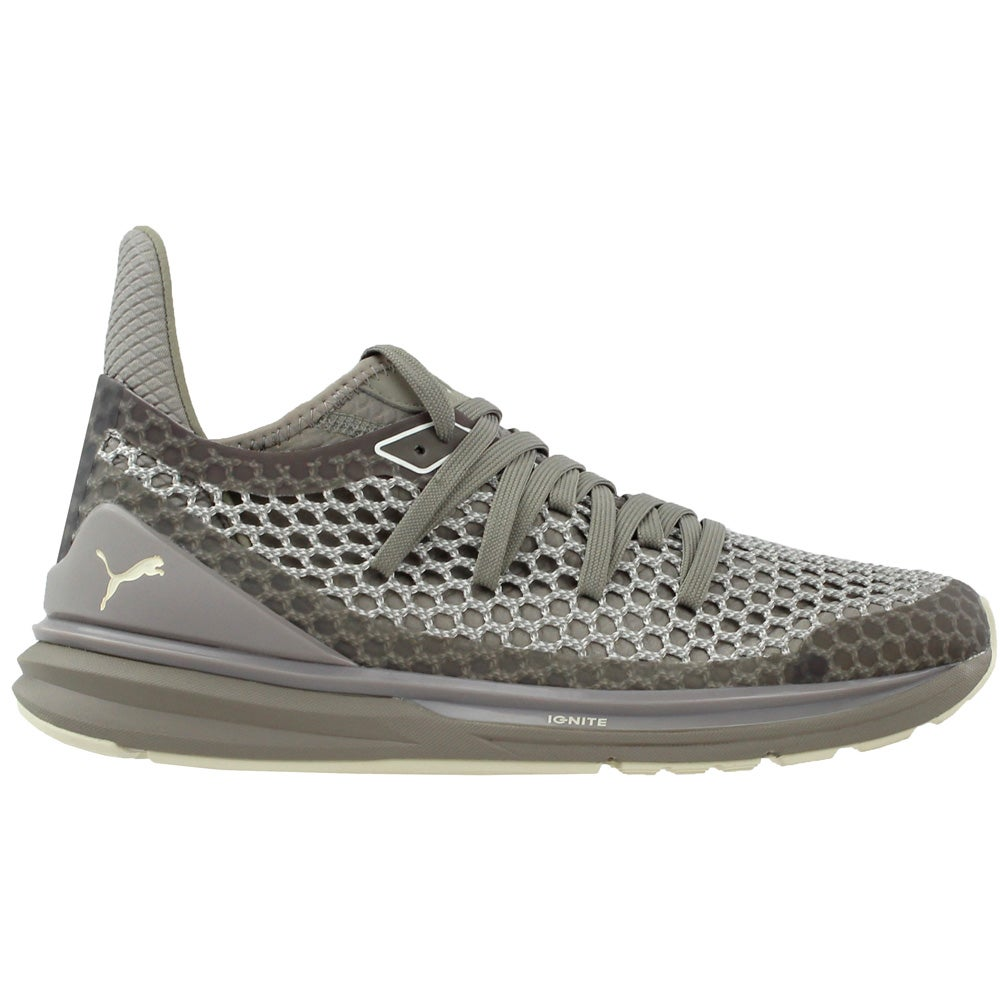 c7613c4904d Details about Puma Ignite Limitless Netfit Multi Running Shoes - Grey - Mens