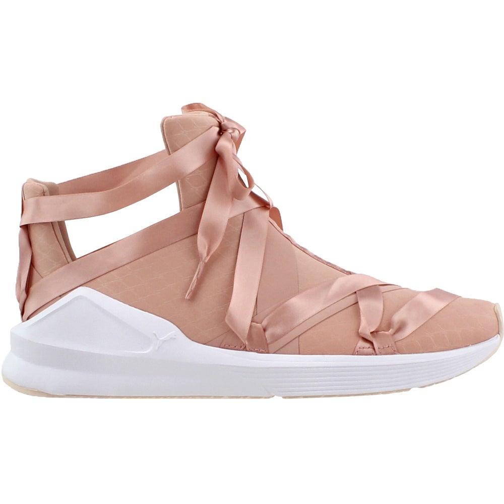 dd32312e6bce97 Details about Puma Fierce Rope Satin En Pointe Sneakers - Pink - Womens