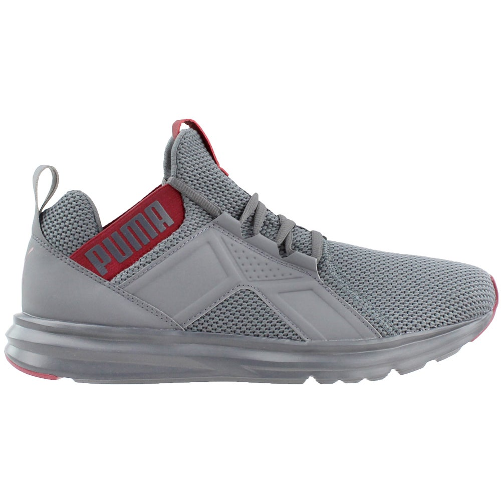 Puma Enzo Weave Grey Mens Lace Up Athletic