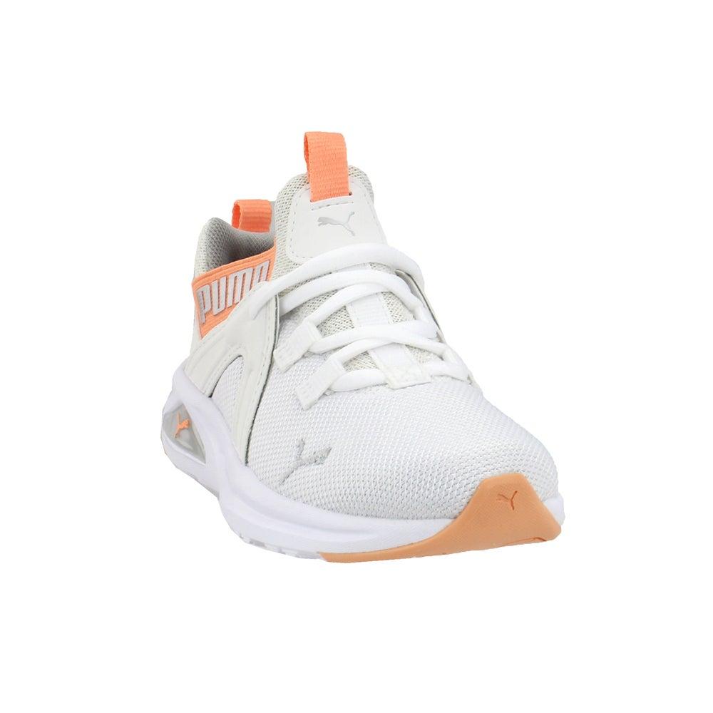 Puma ENZO 2 shineline AC Lacets Enfants Garçons Baskets Chaussures Décontractées-Blanc -