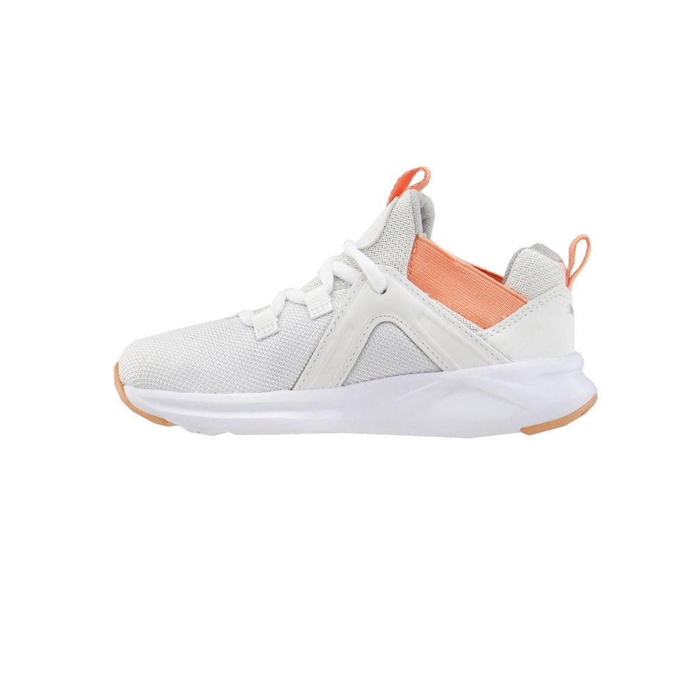 miniature 3 - Puma ENZO 2 shineline AC Lacets Enfants Garçons Baskets Chaussures Décontractées-Blanc -