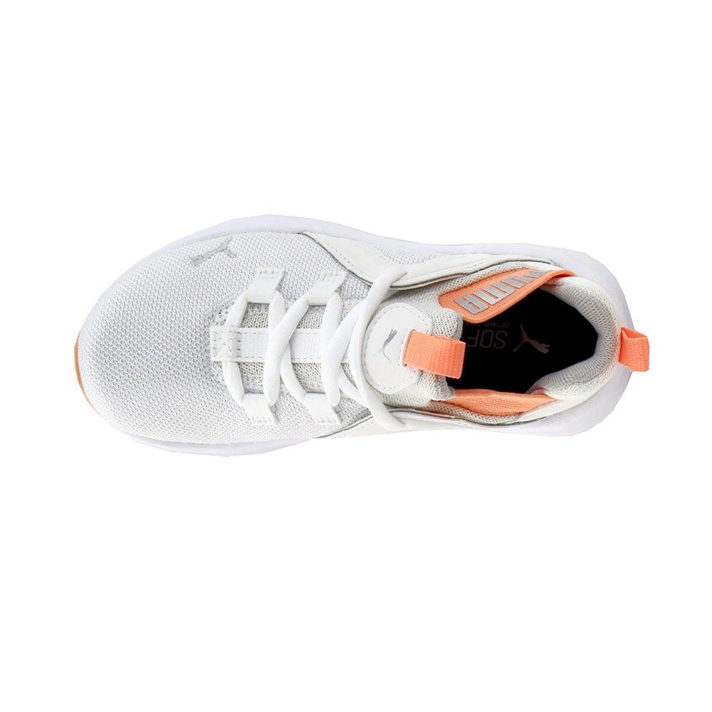 miniature 4 - Puma ENZO 2 shineline AC Lacets Enfants Garçons Baskets Chaussures Décontractées-Blanc -