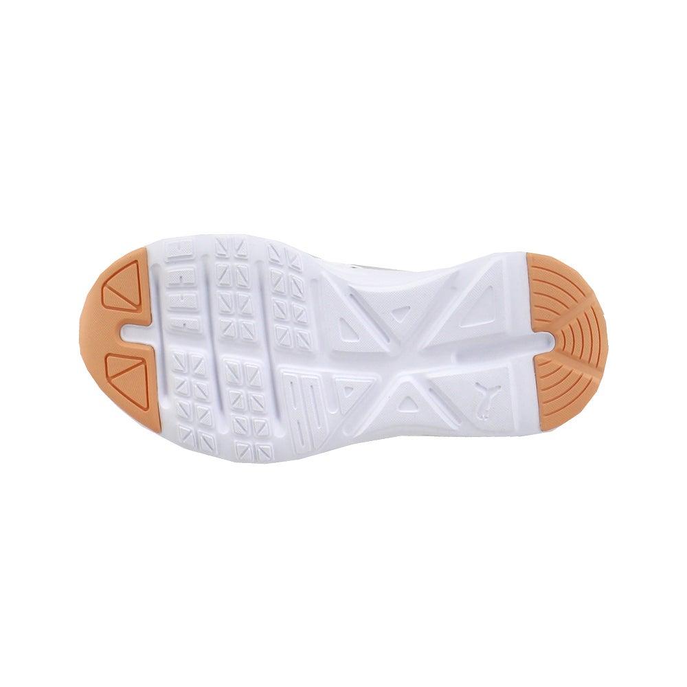 miniature 5 - Puma ENZO 2 shineline AC Lacets Enfants Garçons Baskets Chaussures Décontractées-Blanc -