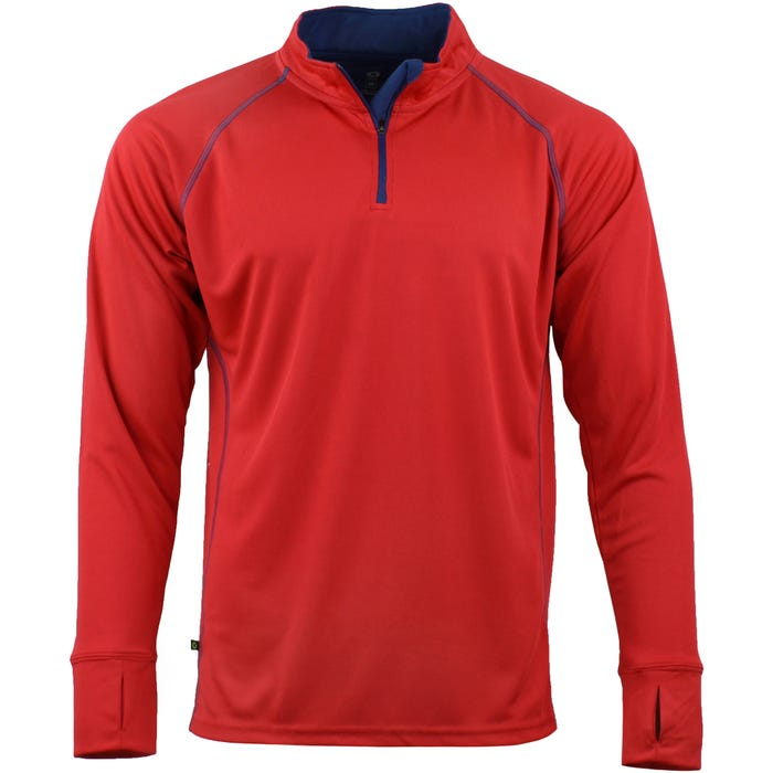 Green Layer Men's Evolution Half-Zip Long Sleeve Tee