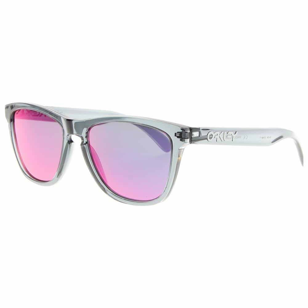 Frogskins Black - Mens - Size One Size Top off your look with these Oakley Frogskins retro men's sunglasses for a touch of '80s style. These sunglasses for men are built with lightweight O Matter™ synthetic frames and Plutonite® polycarbonate lenses for maximum comfort and UV protection.