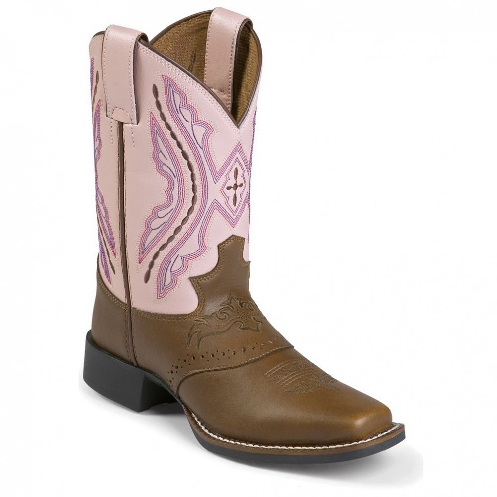 Justin Boots Bay Westerner W/Saddle (Toddler / Youth)