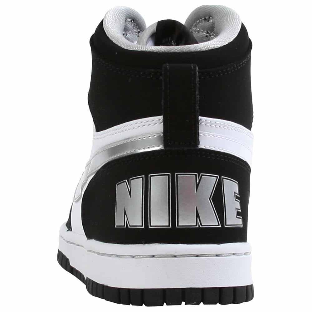 Nike Big Nike High LE - Black - Mens Durable black and white leather upper for durabilityLace-up style closure for custom fitPadded collar and tongue for added comfortEVA insole adds to supportRubber outsole for traction