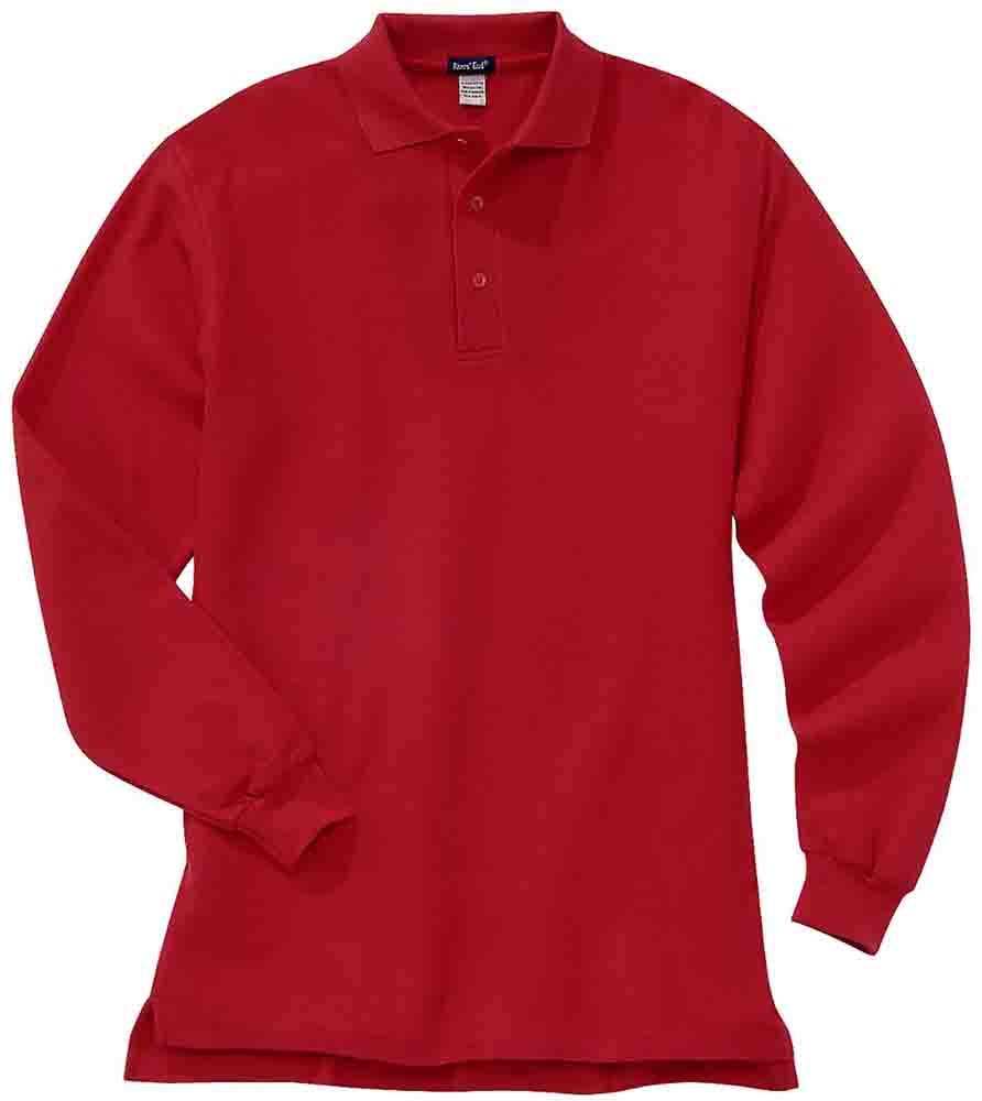 Rivers End Long Sleeve Ezcare Sport Polo Shirt Red Mens Ebay