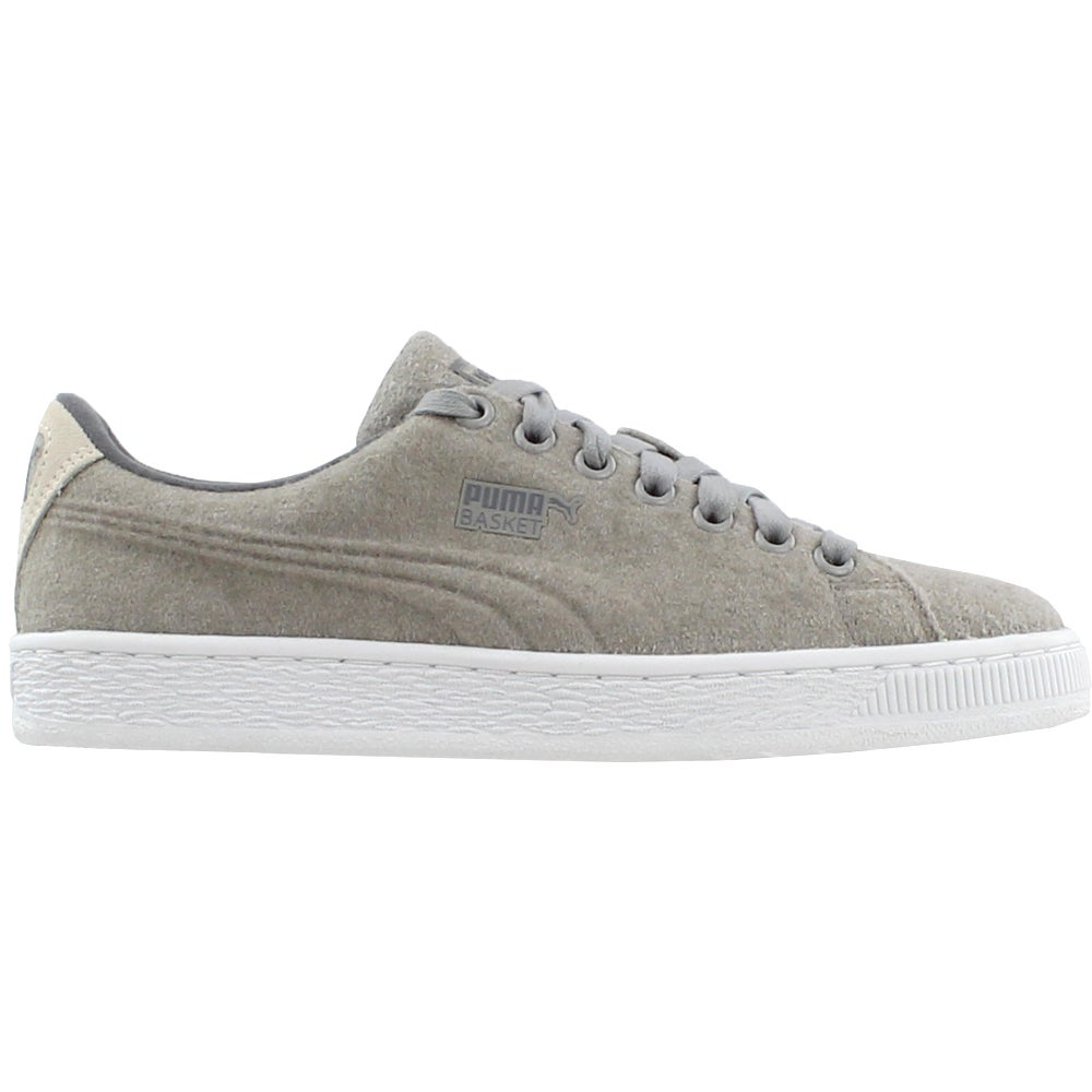 08ea543be0e1 Details about Puma Basket Classic Embossed Wool Sneakers - Grey - Mens