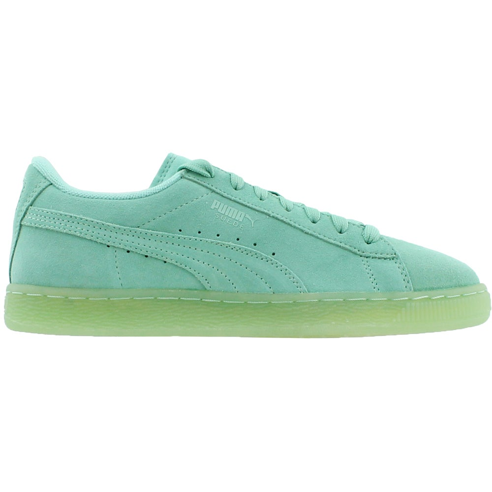 662d9ab2bf7cba Puma Suede Iced Junior Sneakers Green - Boys - Size 7 M 889183615887 ...