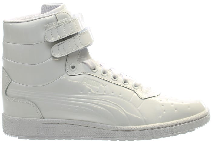 18f907e68c5 Puma Sky II Hi Patent Emboss White shoes and get free shipping on orders  more than $75 at Shoebacca.com