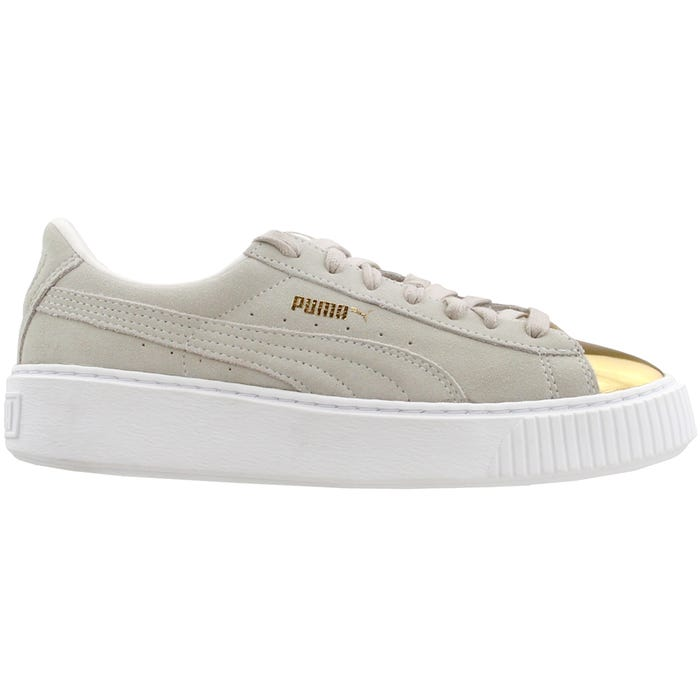 ad65521920a Puma Suede Creeper Gold White Athletic Inspired Shoes and get free shipping  on orders more than  75
