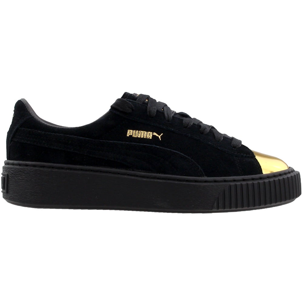 buy online 81ab4 102f2 Details about Puma Suede Platform Gold Sneakers - Black - Womens