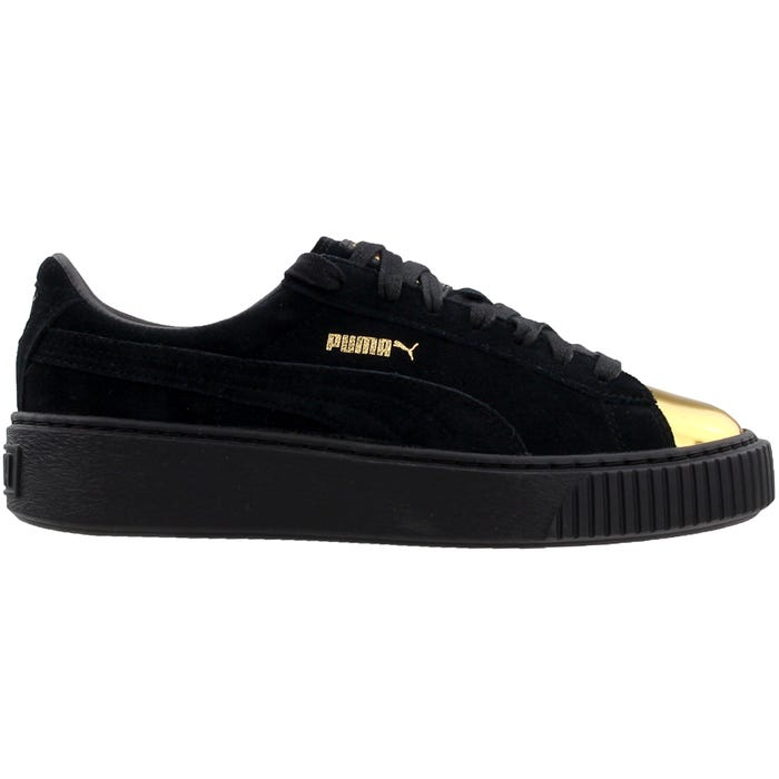 3ae6ace2054 Puma Suede Creeper Gold Black Athletic Inspired Shoes and get free shipping  on orders more than  75