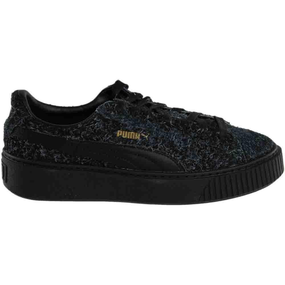 4773064a0f75 Details about Puma Suede Platform Elemental Sneakers - Black - Womens