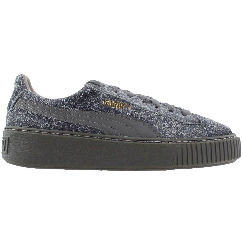 07c73500845c Details about Puma Suede Platform Elemental Sneakers - Grey - Womens