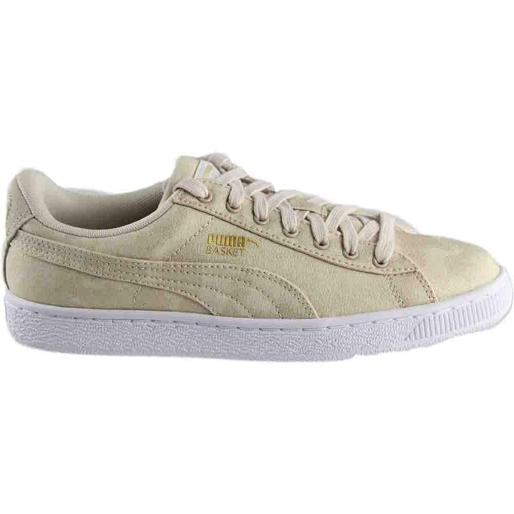 35561dd711961f Details about Puma Basket Denim Sneakers - Beige - Womens