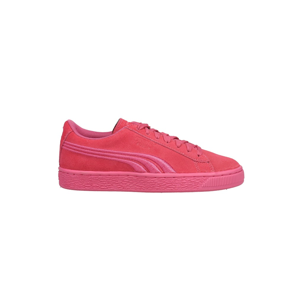 Puma Suede Classic Badge Junior Pink Womens Lace Up Sneakers