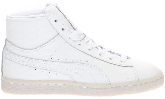 2f102144753b Puma Basket Classic Mid Emboss Jr White and get free shipping on orders  more than  75