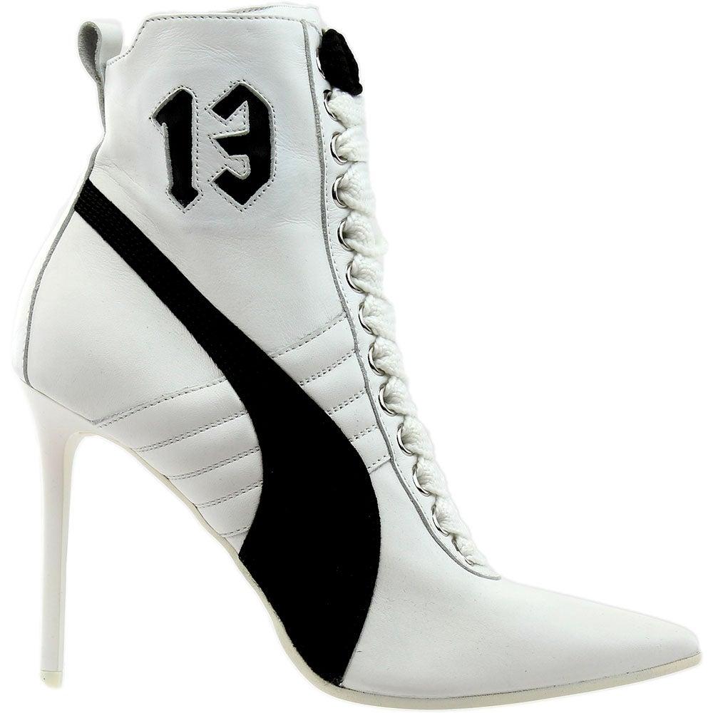 aec91485cc3 Details about Puma Fenty by Rihanna High Heel Leather Heels White - Womens  - Size 8.5 B