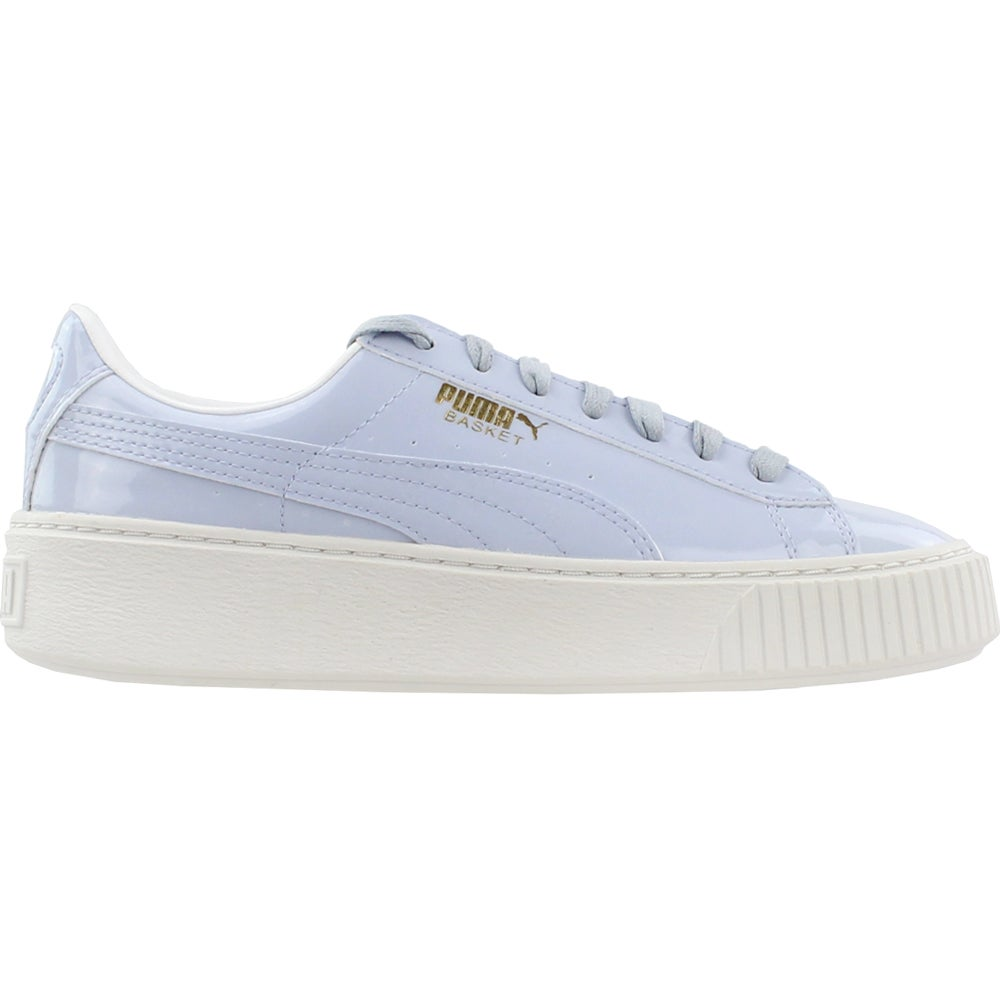 1bfba1807a98 Details about Puma Basket Platform Patent Sneakers - Blue - Womens