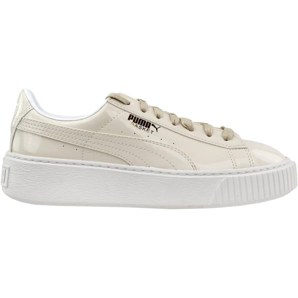 Puma Basket Platform Patent Sneakers - Beige - Womens   eBay b1badd32583