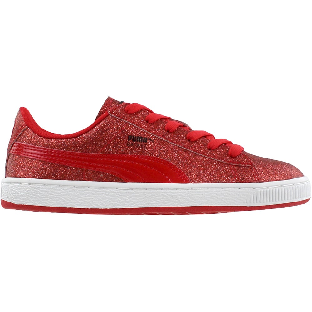 Details about Puma Basket Holiday Glitz Junior Red Boys