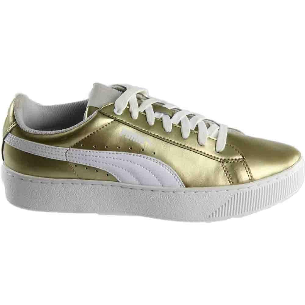 7c17f78636f8 Details about Puma Vikky Platform Metallic Sneakers - Metallic - Womens