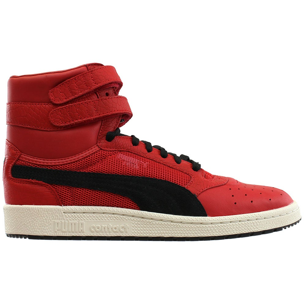 à bas prix a188b a0cff Details about Puma Sky II High Color Blocked Leather Casual Sneakers - Red  - Mens