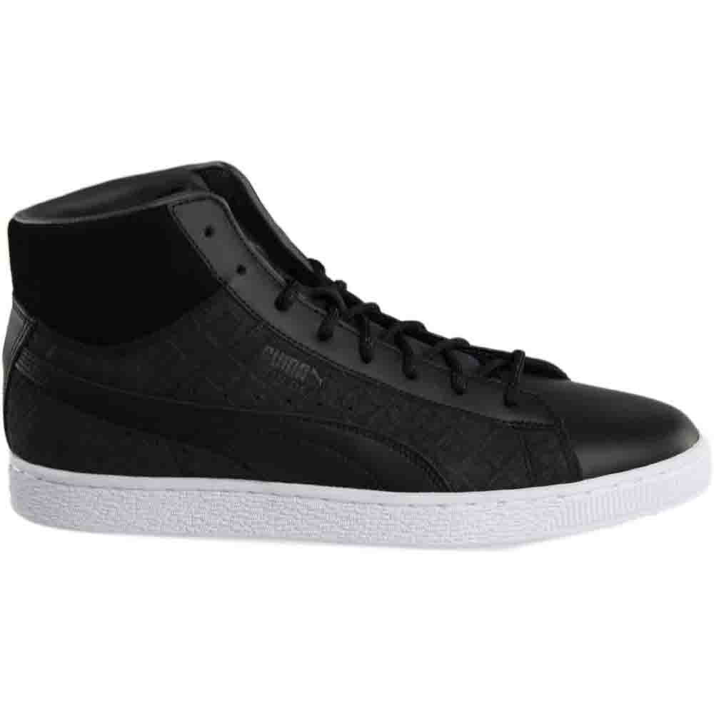 Details about Puma Suede Classic Mid Quilt Sneakers - Black White - Mens eaa5c7083