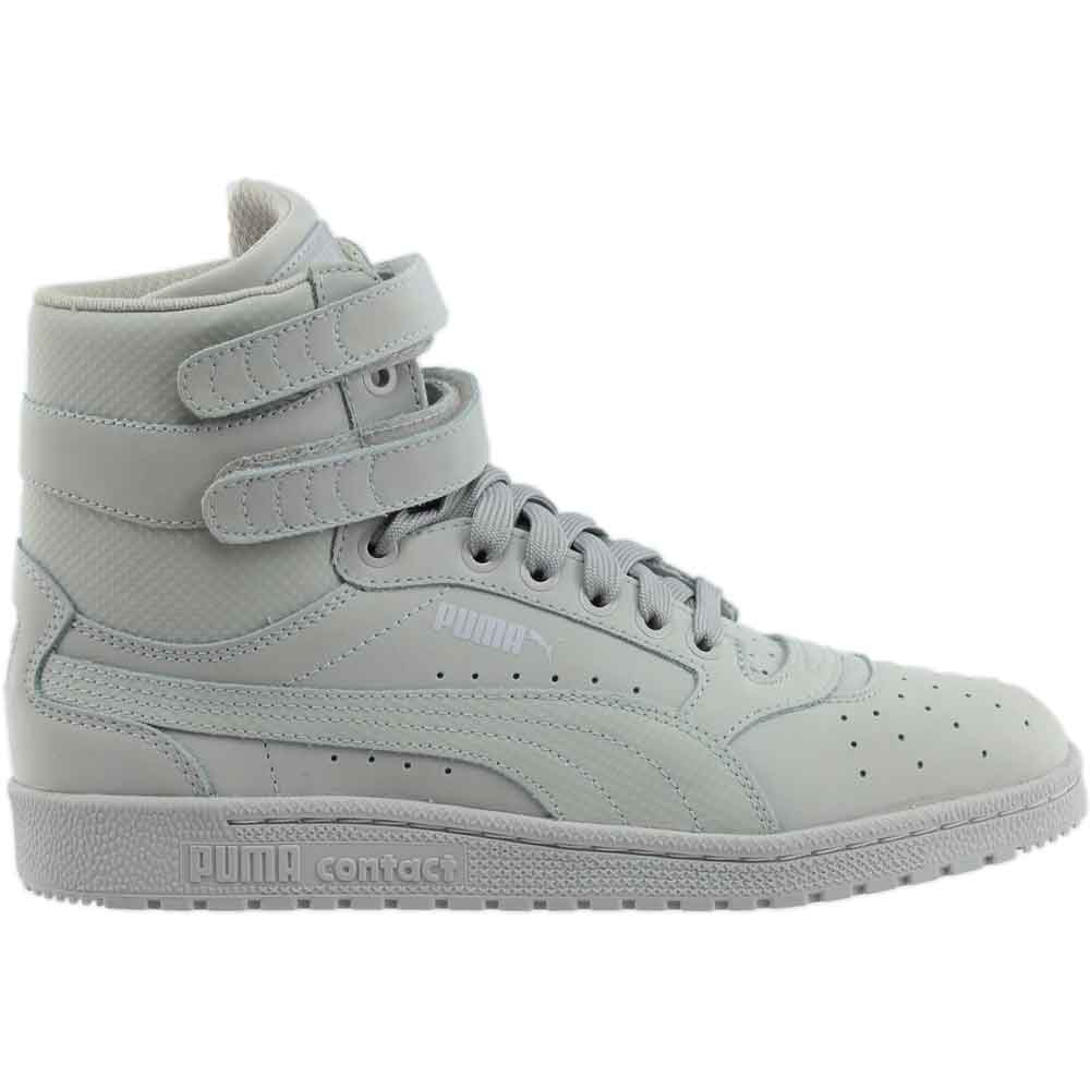 3743ada9ccbc Details about Puma Sky II High Nubuck Leather - Grey - Mens