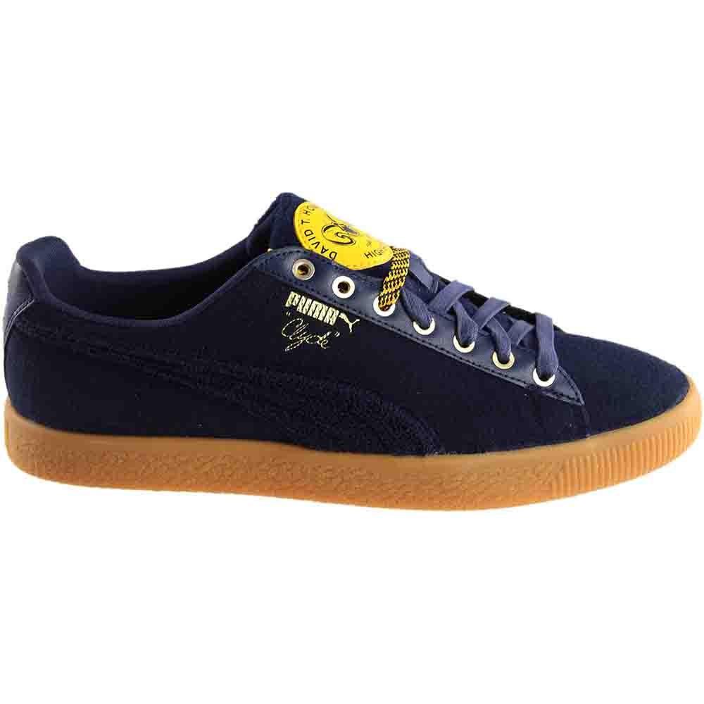 b0b61cf87b5275 Puma Clyde Wool BHM Sneakers - Navy - Mens