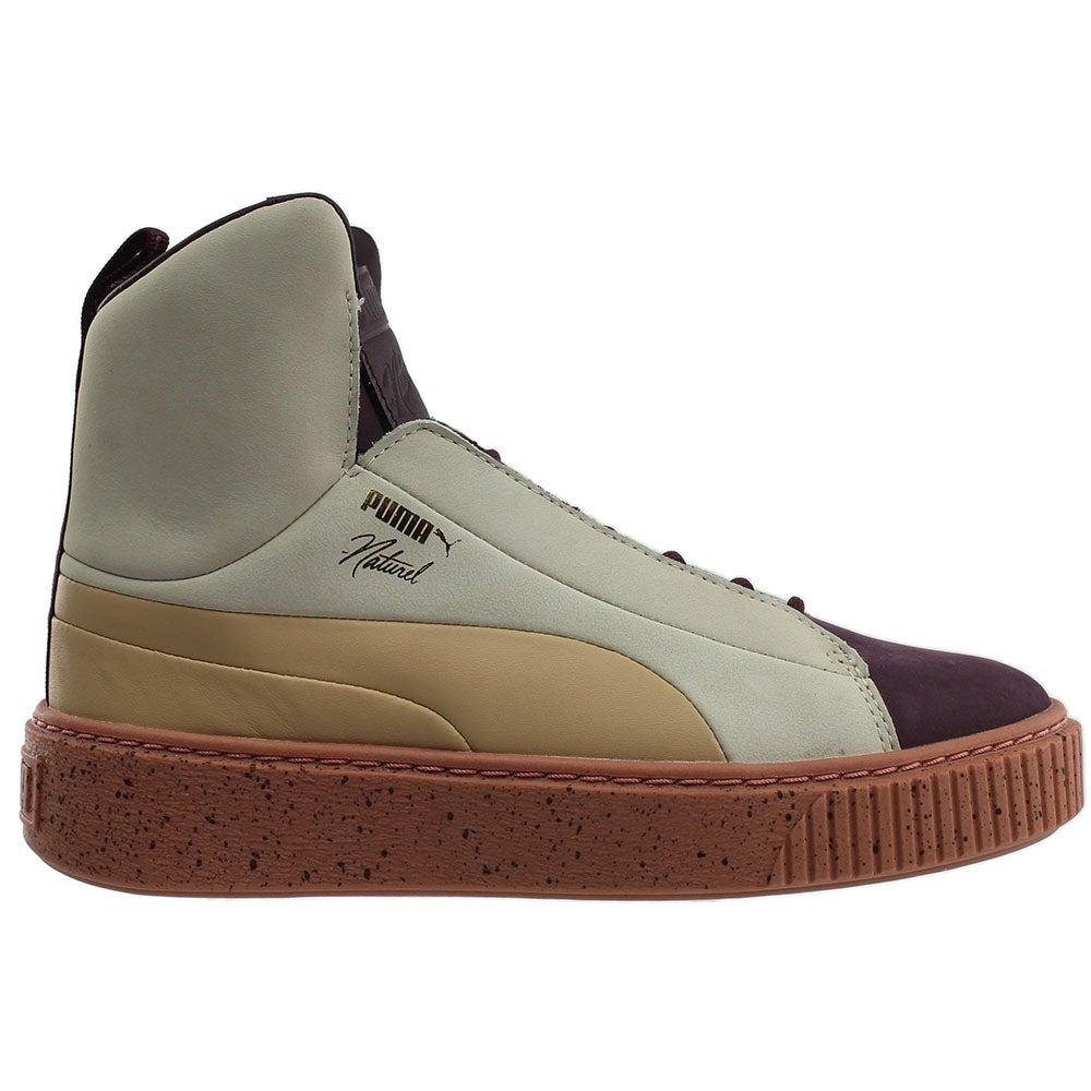 ac54d96c7924 Details about Puma Naturel Platform FSHN Sneakers - Purple - Womens