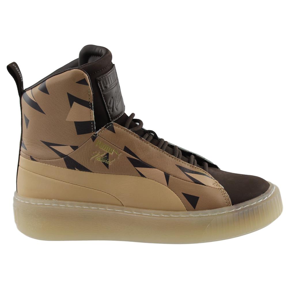 17a9aaf8d7a Details about Puma Naturel Platform Cheetah FSHN Sneakers - Brown - Womens