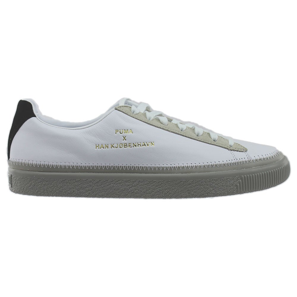527534a5ac82 Details about Puma Han Kjobenhavn Clyde Stitched Sneakers - White - Mens