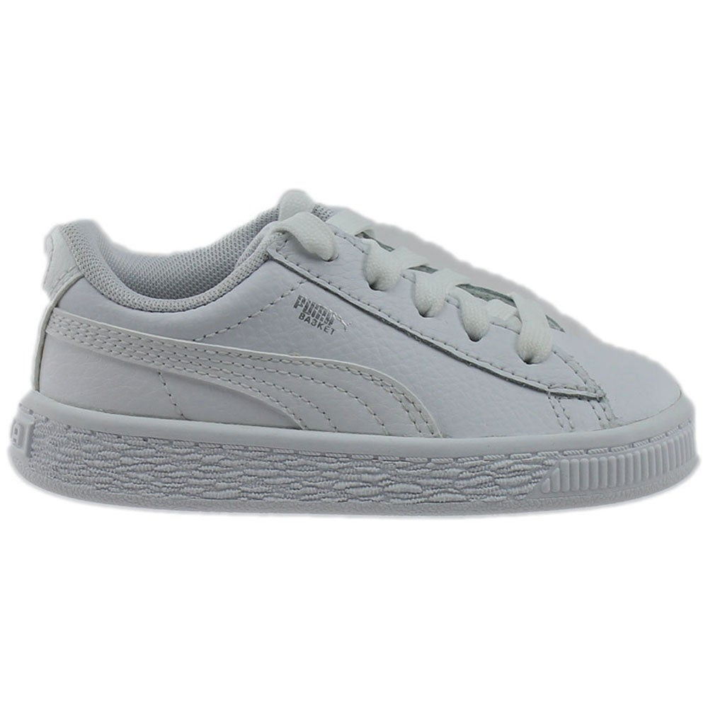 buy popular 34fdd 8cccc Details about Puma Heritage Basket Classic Infant Sneakers White - Boys -  Size 8 M